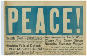 Seattle Post-Intelligencer, August 15, 1945