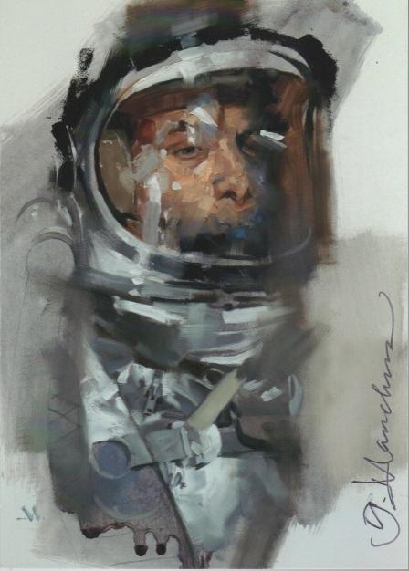 Greg Manchess - Astronaut, signed